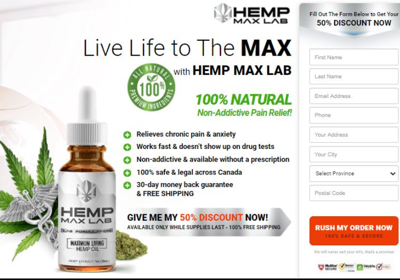 Hemp Max Lab Oil Canada