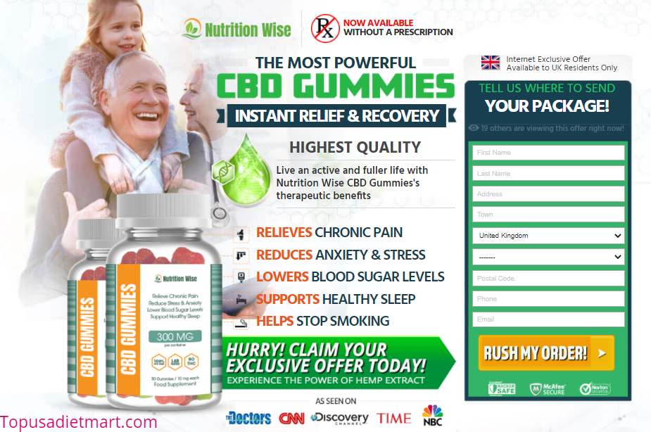 Nutriwise CBD Gummies United Kingdom